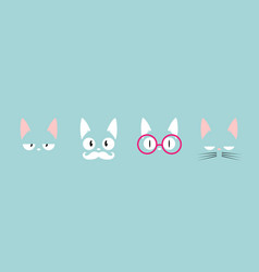 pet collection emoticons cute cartoon character vector image