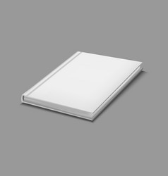 realistic detailed 3d white blank hardcover book vector image