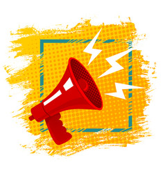 Red retro megaphone vector