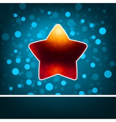 Red star on blue abstract Happy New Year EPS 8 vector image vector image