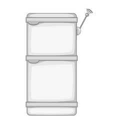 Refrigerator with wi fi connection icon monochrome vector