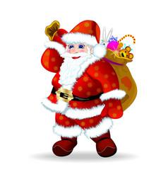 Santa Claus with presents vector image