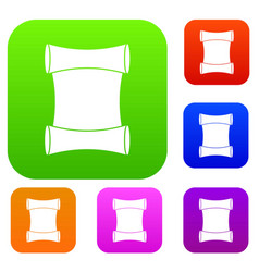 scroll set collection vector image