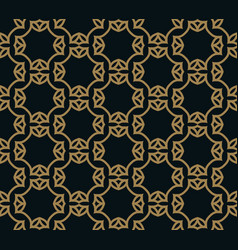 seamless pattern intersecting thin gold lines vector image