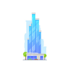 Shopping mall isolated icon vector