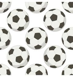 Soccer balls seamless background vector image