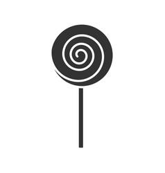 spiral lollipop glyph icon vector image
