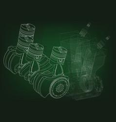 The car engine vector