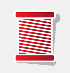thread sign new year reddish vector image