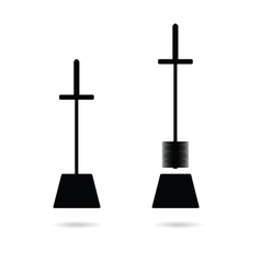 toilet brush in black vector image