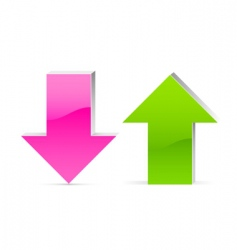 up and down arrow vector image