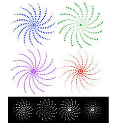 Various colorful abstract spirally elements with vector