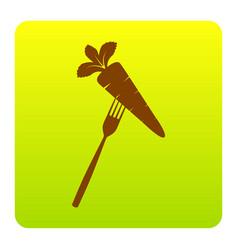 vegetarian food sign brown vector image