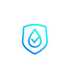 Waterproof icon water resistant label vector