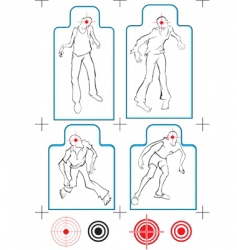 zombie targets vector image