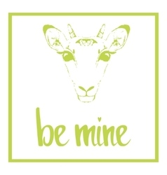 Be mine Valentines day template vector image