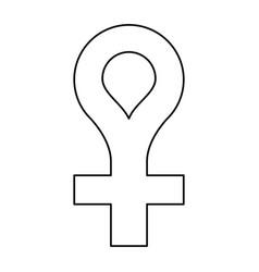female gender symbol icon thin line vector image