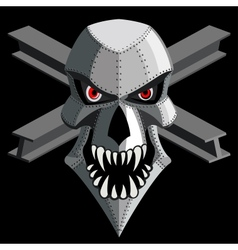 iron skull vector image