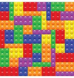 lego blocks construction vector image vector image