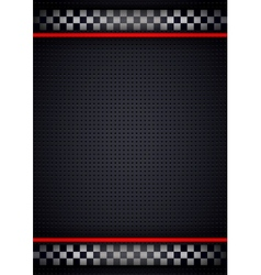 Racing background vertical metallic perforated vector image vector image