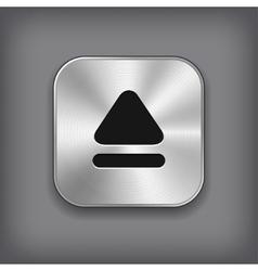 Up arrow icon - metal app button vector image