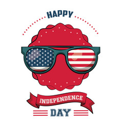 Usa independence day card vector