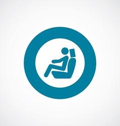 car seat icon bold blue circle border vector image