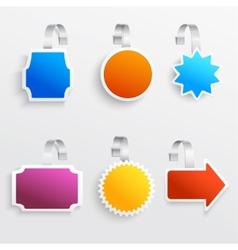 Color wobbler set vector image