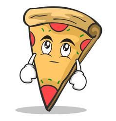 eye roll pizza character cartoon vector image vector image