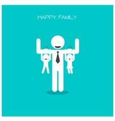 happy family having fun vector image