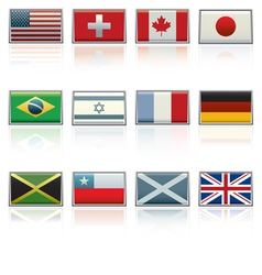 international flag icons vector image vector image