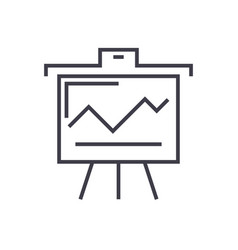 presentation board line icon sign vector image