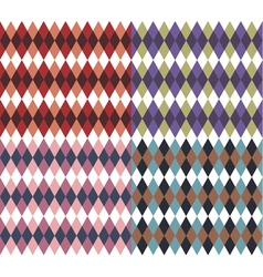 Set of four with rhombus vector image vector image