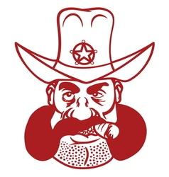 sheriff cowboy3 resize vector image