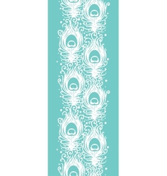 Soft peacock feathers vertical seamless pattern vector image