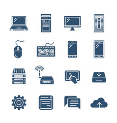 personal computing devices vector image vector image