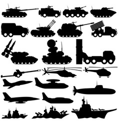 Set of military transport vector