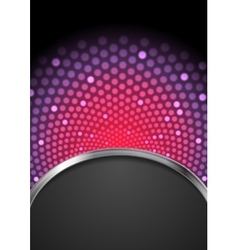 Abstract purple shiny flicker glowing design vector