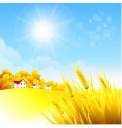 Autumn rural landscape vector image