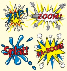comic book zapzoom splat kaboom vector image vector image