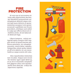 fireman profession and fire secure protection vector image vector image