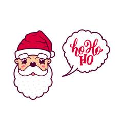 santa claus cute face says ho ho ho vector image