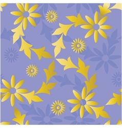 seamless golden blue vector image vector image