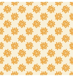 Seamless pattern with abstract orange flowers vector image