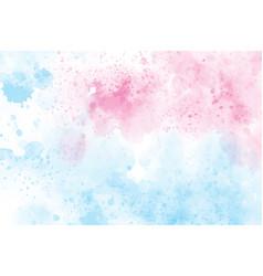 2 tones blue and pink watercolor wash splash vector