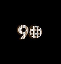 90 years anniversary celebration elegant black vector