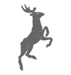 A deer with horns Nature and vector