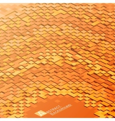 Abstract background with orange square blocks vector image