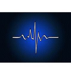 abstract blue cardio vector image