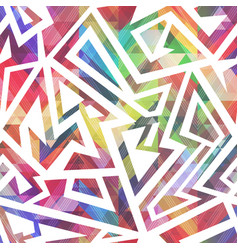 abstract colored geometric pattern vector image